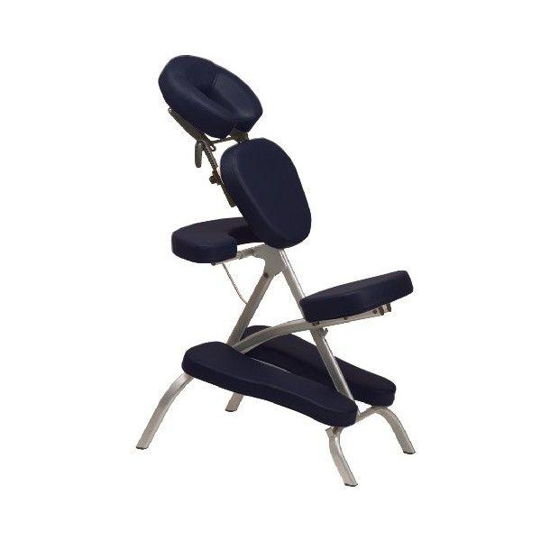 Chaise de massage type amma assis simple et réglable au niveau dossier et tête, état neuf