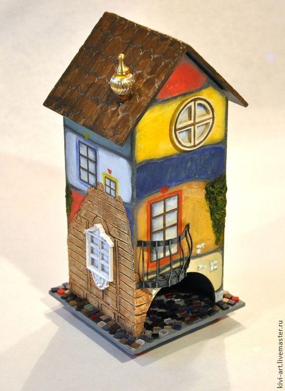 Купить В стиле Хундертвассера (чайный домик) - чайный домик, чайный домик декупаж