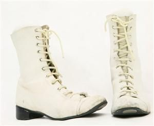 Marching Girl's boots - Collections Online - Museum of New Zealand Te Papa Tongarewa