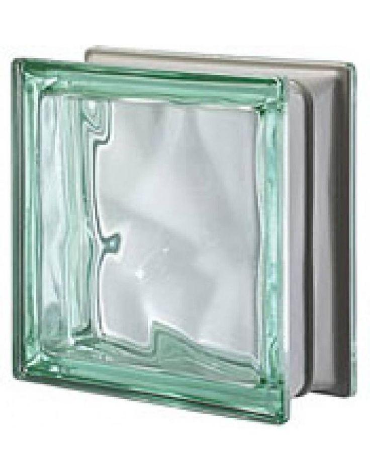 Seves Q19-O Verde Metalized - Glazen bouwstenen | Glasblokken | Glasdallen | Glastegels