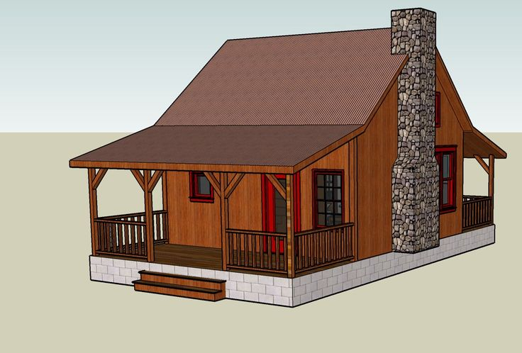 tiny romantic cottage house plan tiny house blog archive google sketchup 3d tiny house. Black Bedroom Furniture Sets. Home Design Ideas