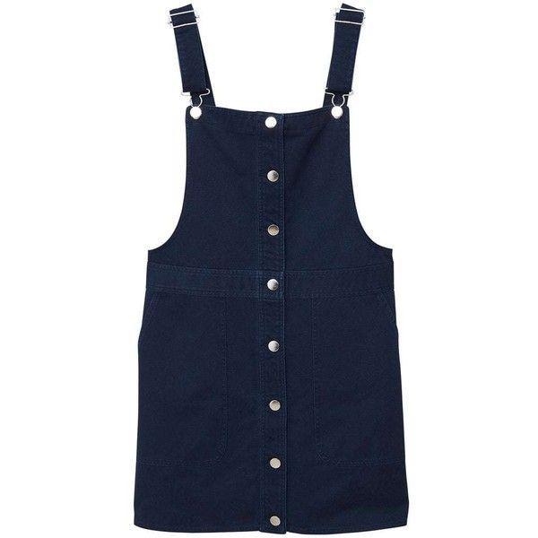 07e6e9f5b790ac MANGO Short cotton pinafore dress (65 AUD) ❤ liked on Polyvore featuring  dresses