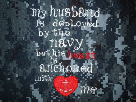 """US NAVY. Navy Wife pillow  """"My husband"""" is by LynnsSewMuchMore, $9.00. I WANT THIS SO MUCH!!!"""