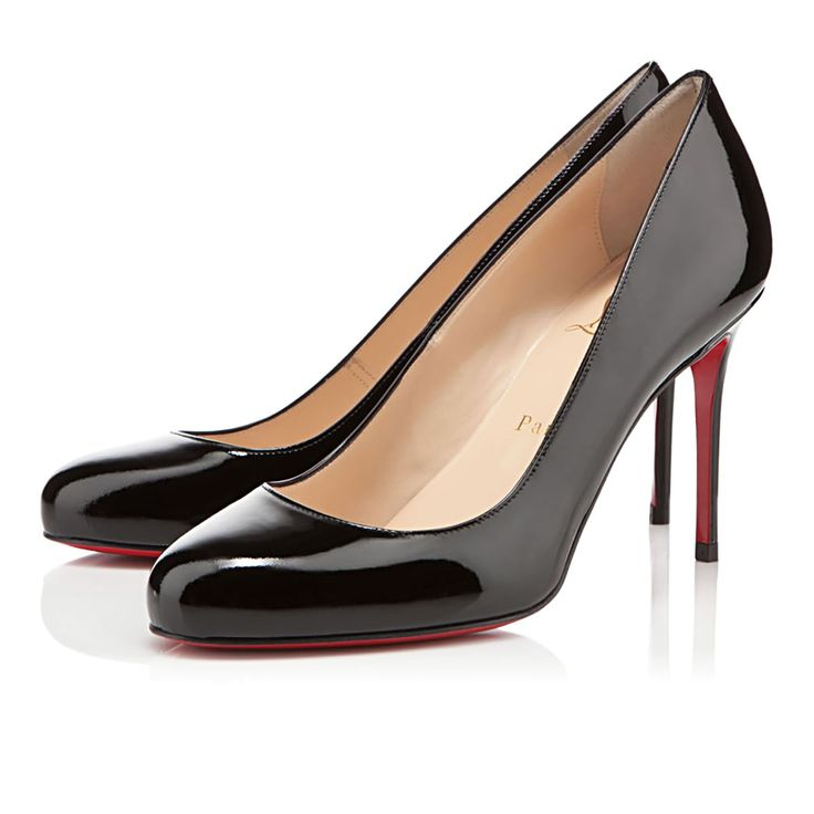 Christian Louboutin Greece Official Online Boutique - FIFI PATENT CALF 85  Black Patent calfskin available online. Discover more Women Shoes by  Christian ...