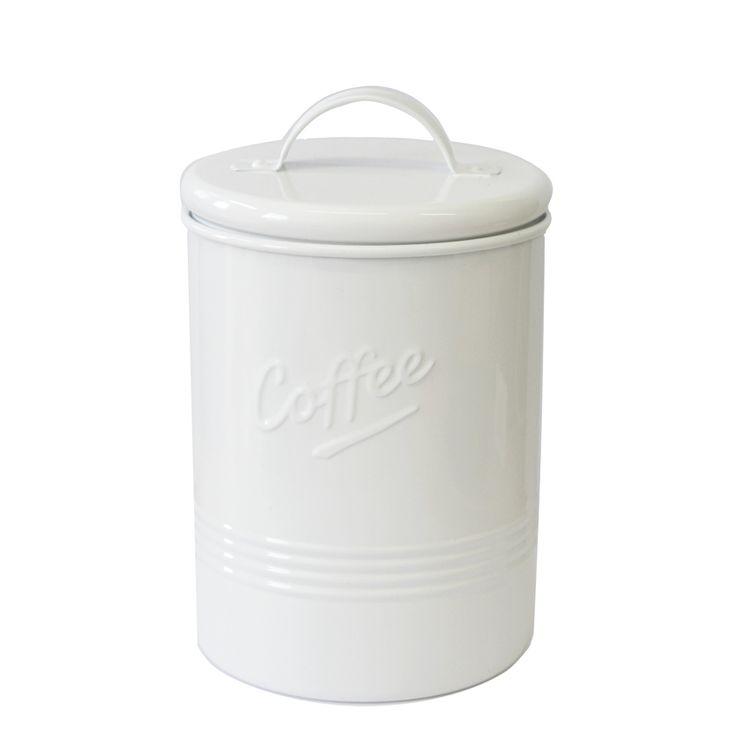 Kaffeboks Rod hvit
