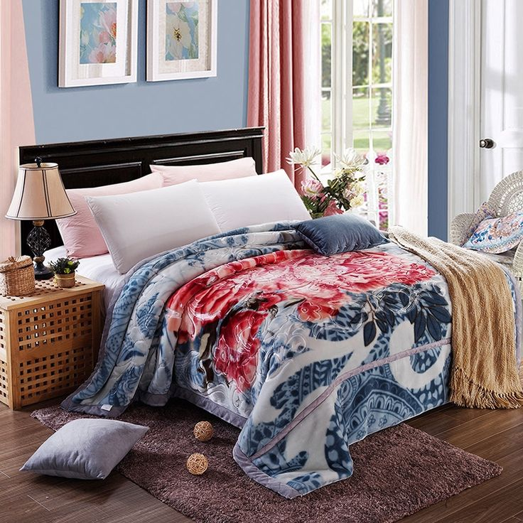 184.00$  Buy here - http://aiptt.worlditems.win/all/product.php?id=32775354508 - Arnigu chinese style print thick Blankets Queen size thicken Raschel embossing blanket warm soft Bedsheet winter bed/sofa Throws
