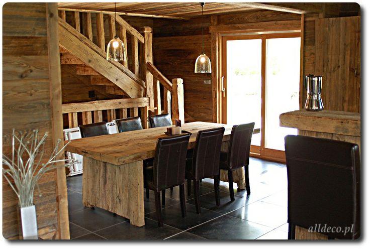 Salon w starym drewnie