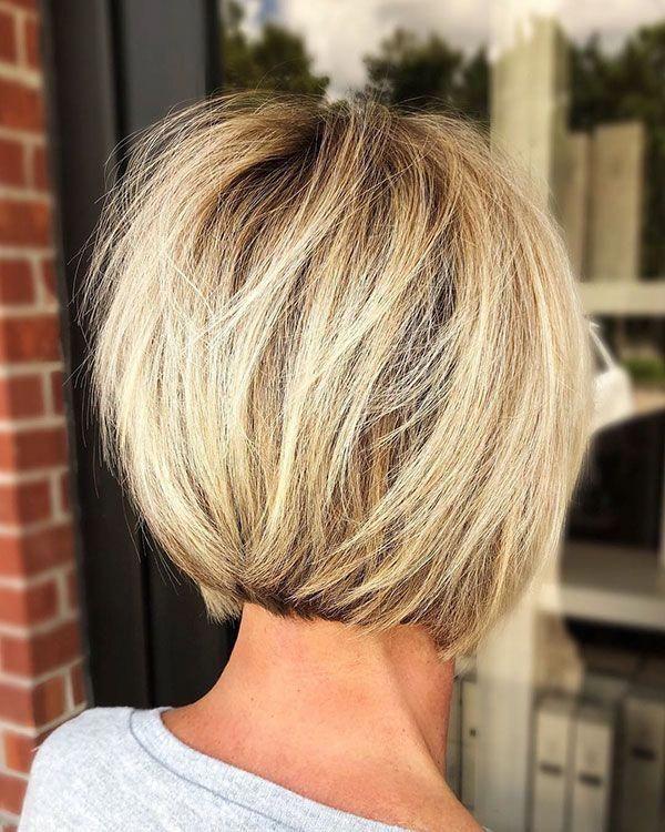 Back View Short Haircuts For Women #Bobhaircut
