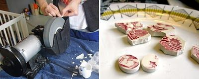How to make pretty jewelry out of broken porcelain. Great DIY.