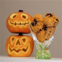 Cookies de abóbora com gotas de chocolate