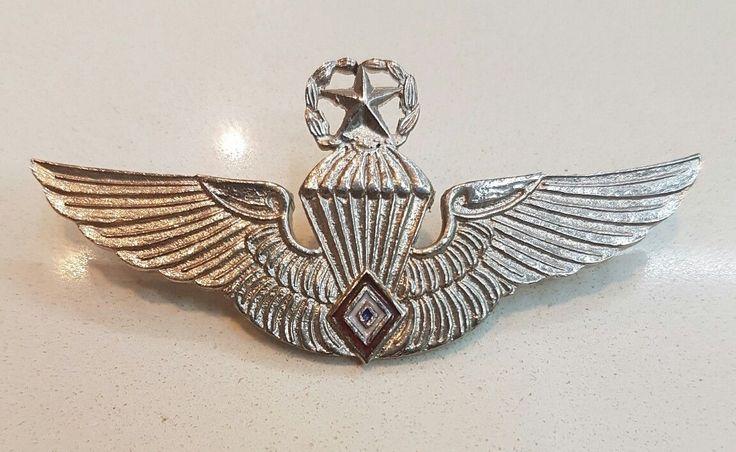 PHILIPPINES Air Force Parachute wings, Master, Airborne para jump parachutist