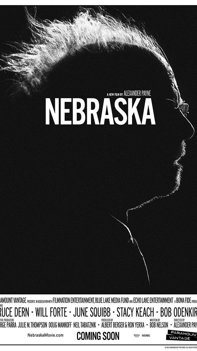 "Nebraska (2013) - understated, ""restrained"" as a friend described it, almost theatrical, which is odd for a road movie. I'd give it four stars for all those reasons and astonishingly good acting."