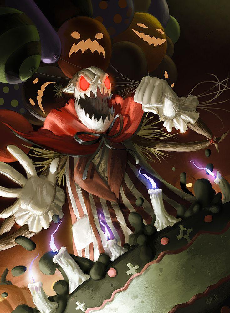 League of Legends: Halloween Fiddlesticks by ~GisAlmeida on deviantART