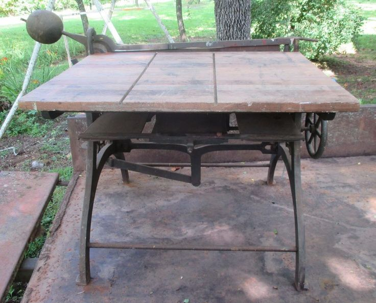 Antique Industrial Table Cast Iron Guillotine Paper Cutter Marshall & Son Boston #MarshallSonCo