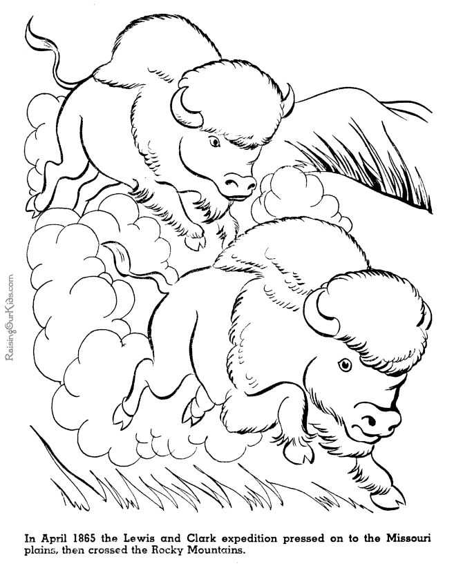 lewis and clark history coloring pages for kid 032