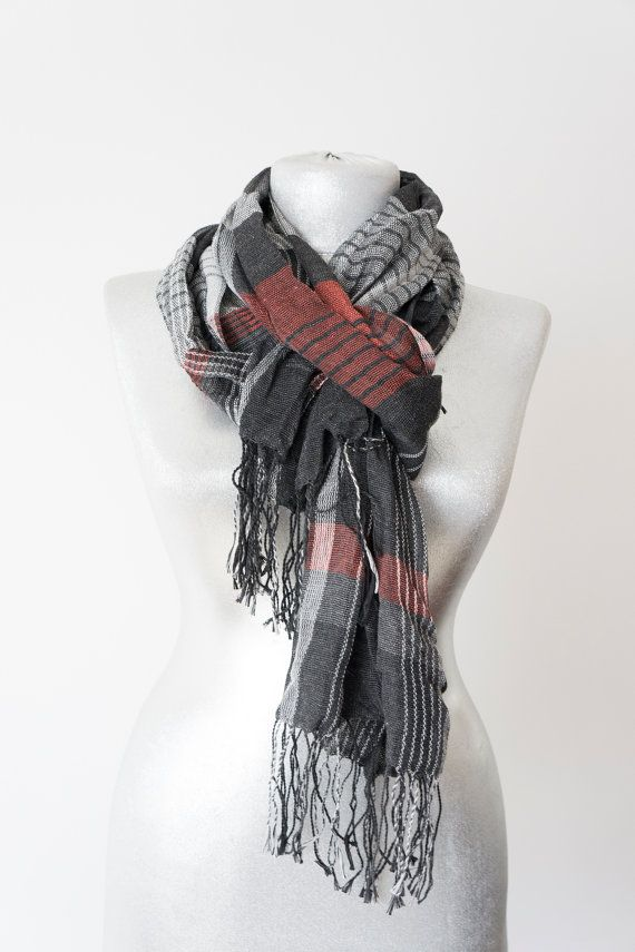 Men Scarf Winter Scarf Men Accessory Birthday Gift by Urbe on Etsy