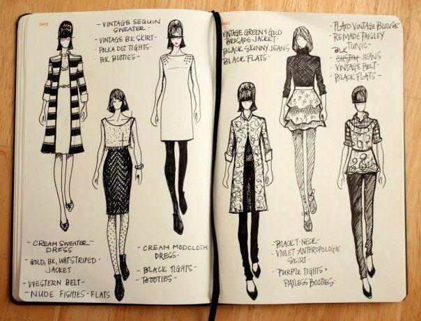 Fashionary - Vintage Sketch