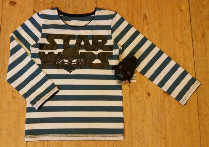 Star wars appliqued shirt for my son. Made by Suvitus.
