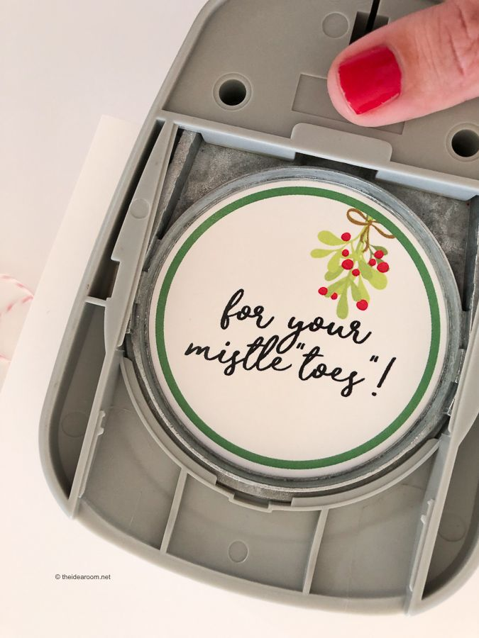 Looking for an easy and simple teenage gift idea or a gift idea for your girlfriends? Give them this fun Mistletoes Nail Polish Gift Idea!