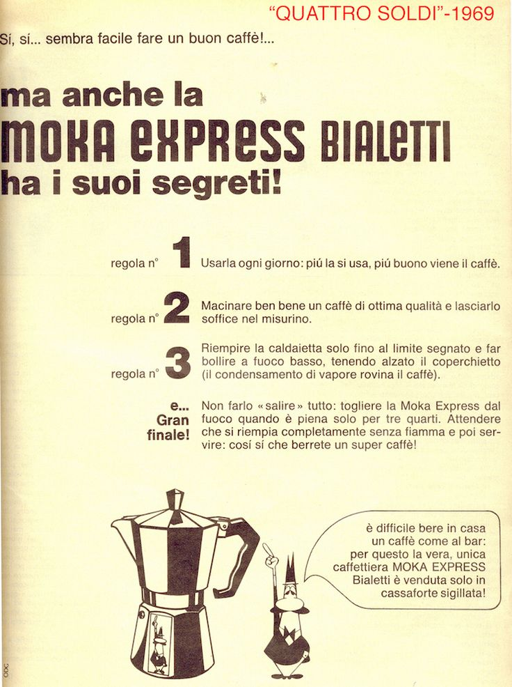 10 Suggestions to make a good coffee with a Bialetti like coffeemaker | Italy