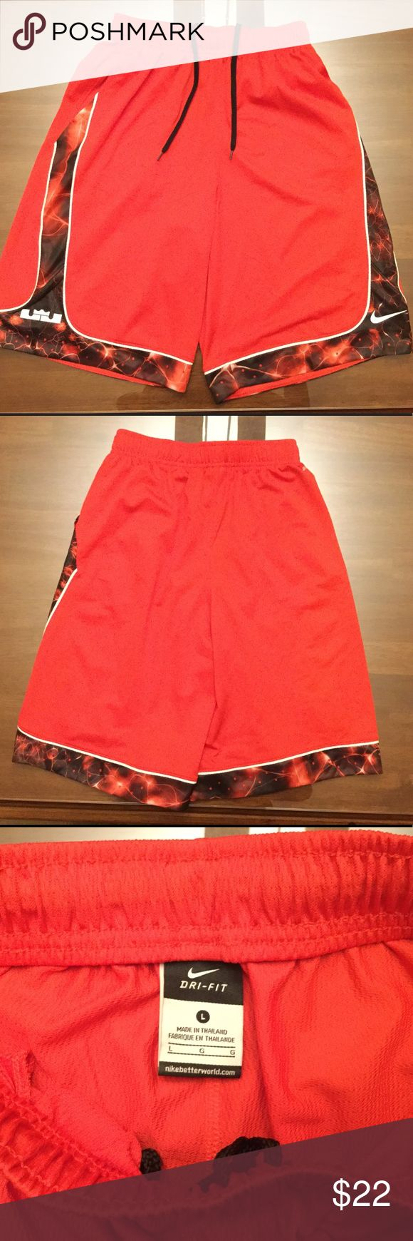 Nike x Lebron James Basketball Shorts NWOT Red Lebron James basketball shorts - size: youth large, runs true to size. Condition: 10/10 - never worn but missing tags. Nike Bottoms Shorts
