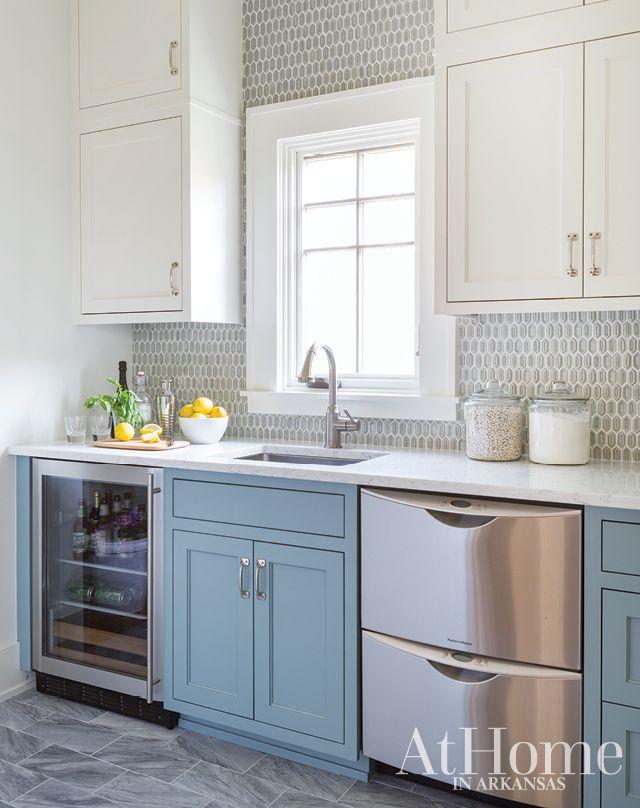 blue kitchen, melissa haynes, interior design, kitchen renovation
