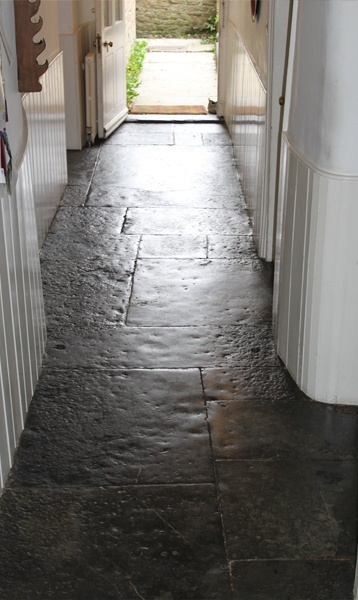 James Thurtle - Traditional Building Services: Flagstone Floor Restoration - cleaning, pointing and sealing