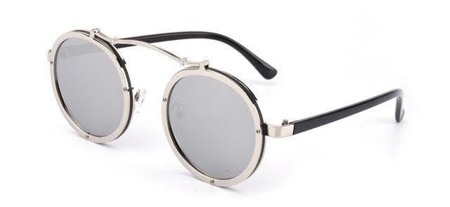 "Unisex ""Burner"" Circle Round Browline Sunglasses Astroshadez"