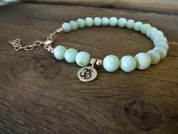 Yoga bracelet, Om, Chakra bracelet, peruvian opal bracelet,  sterling silver Om bracelet. So Cool Charms. #Minimalist  #jewelry. #Bracelets. Just because less is more. https://www.etsy.com/shop/SoCoolCharms