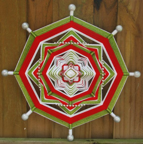 18 Mandala Woven Yarn Art  Ojo de Dios Wall by MandalaMoonShop, $30.00