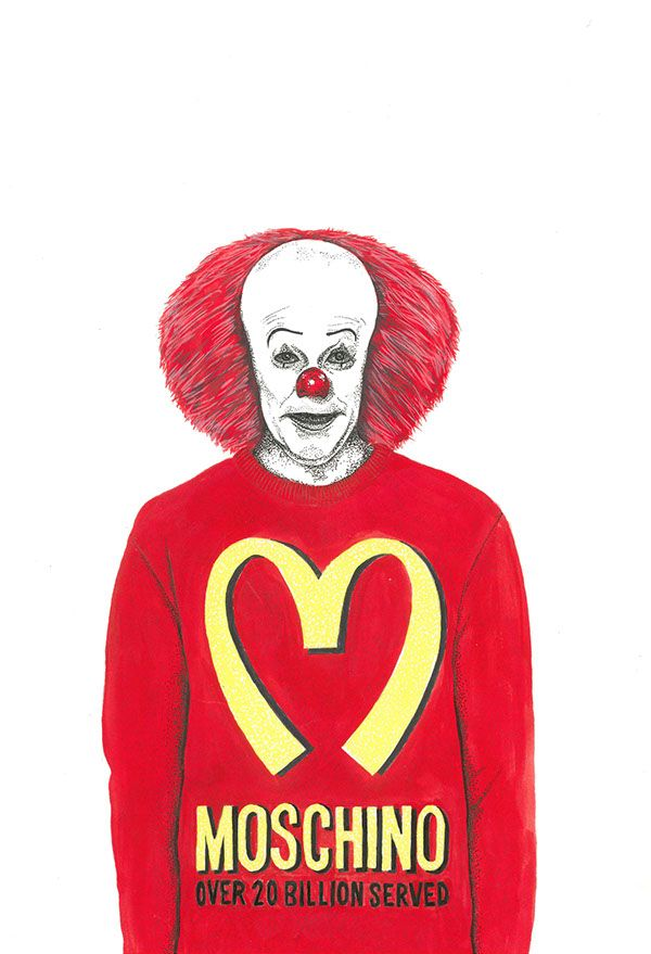 Pennywise wearing Moschino FALL 14