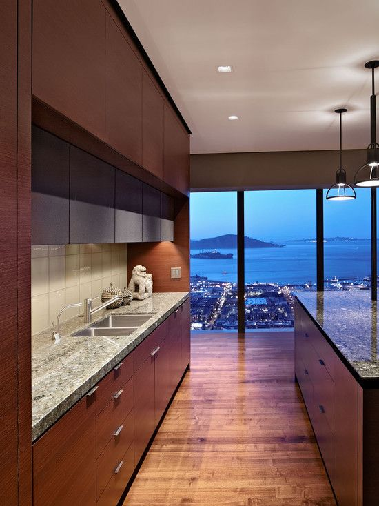 Modern Kitchen Design | Zackjde Vito Architecture | Stunning kitchen, floor to ceiling windows, granite counter, open kitchen design