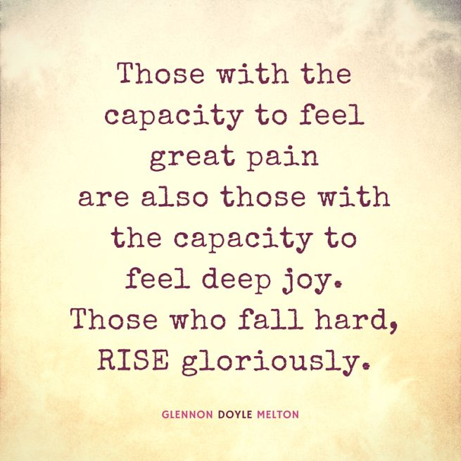 """Glennon Doyle Melton: """"The wounded become the healers. Your pain will not be wasted. Trust it. Be brave enough to be still in it and you'll learn that your pain will NOT consume you- it will become the fire you burn to light and warm the world. #LoveWarrior #togetherrising"""""""
