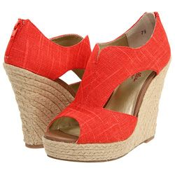 These orange wedges feature strategic cutouts on the sidesSeychellers Wedges, Wedges Heels, Summer Sandals, Summer Shoes, Summer Heels, Seychelles Wedges, Coral Wedges, Summer Wedges, Bright Colors