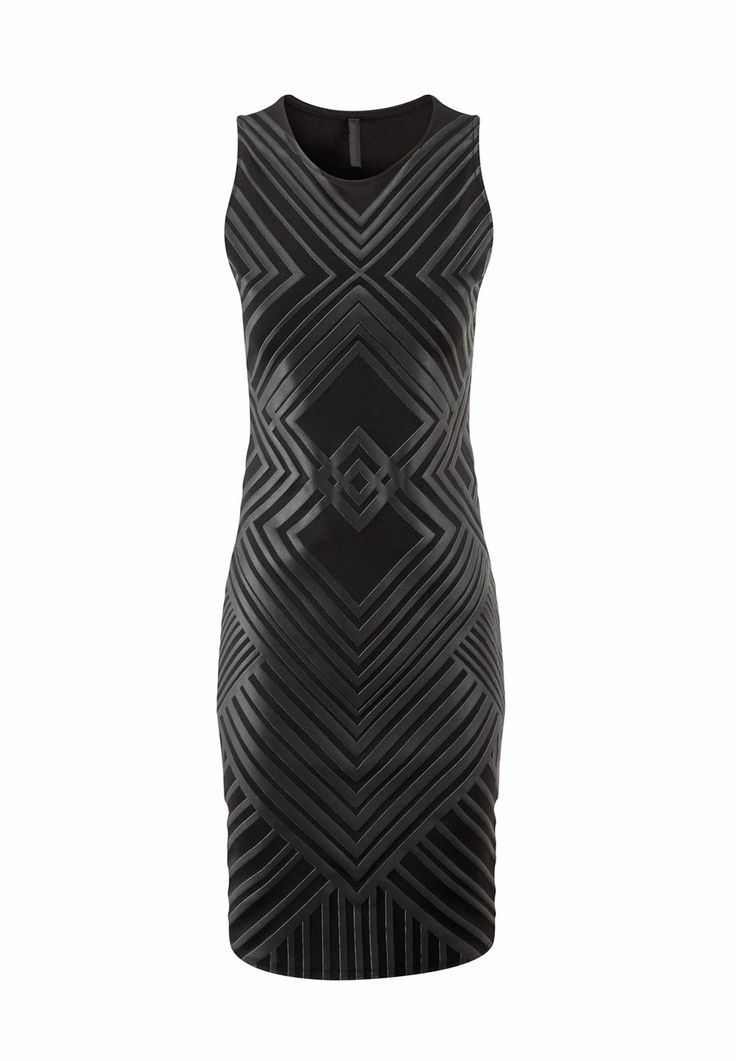 TODAYS SPECIAL OFFER: 20% OFF NOW £11.99! http://www.prodigyred.com/dresses/c41_1/p3650/geordina-leatherette-geometric-shift-dress/product_info.html?attr_id=15