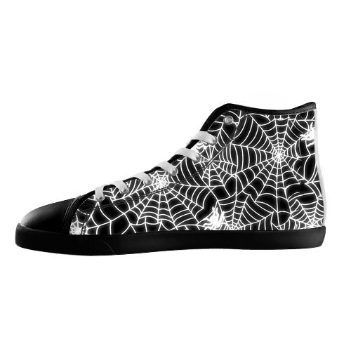 Spider Web Shoes - Available Here: http://www.customdropshipping.com/personalized-design/personalized/spider-web-black-high-top-canvas-shoes-model002-women-47253