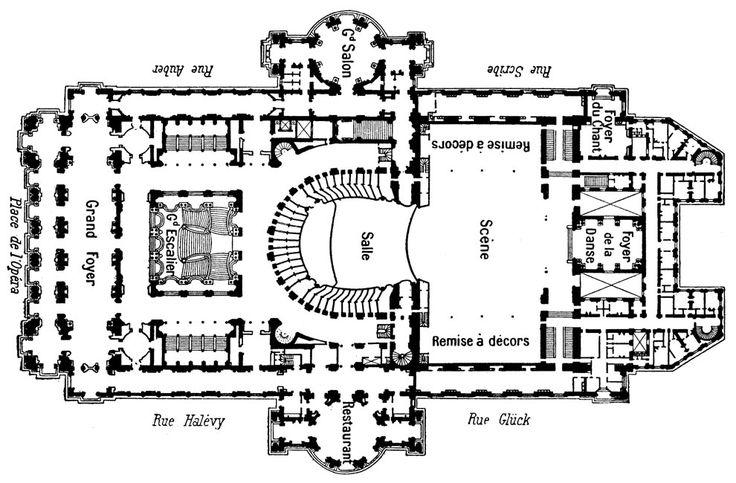 Blueprint Of The Palais Garnier Phantom Opera Pinterest Paris Scribe And Search