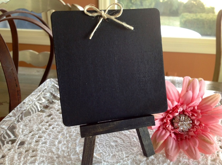 Classroom Cooking Ideas ~ Mini chalkboard with easel wedding table numbers stic