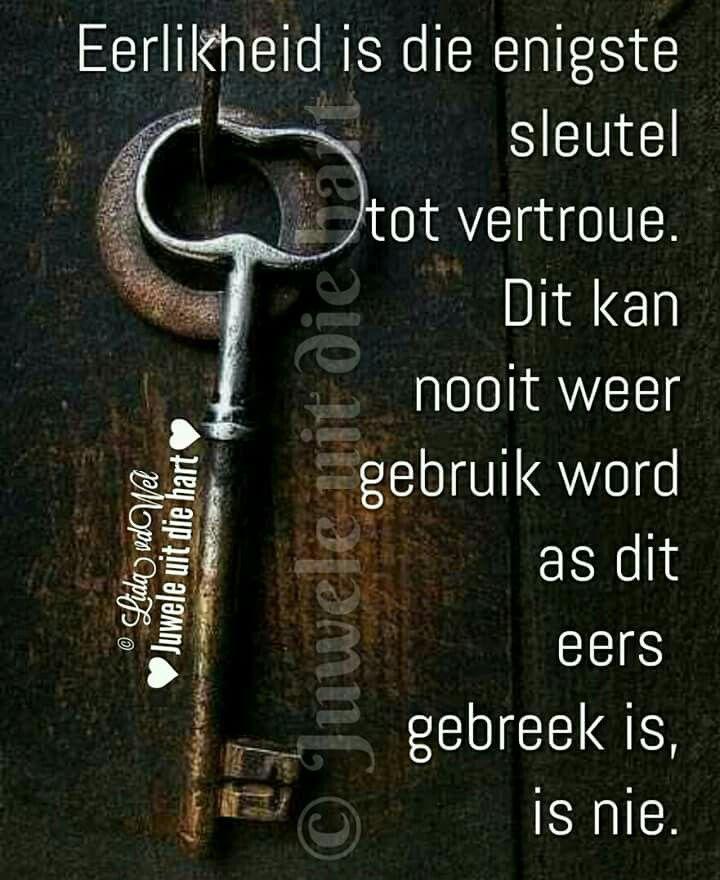 Eerlikheid... #Afrikaans #Analogies #InANutshell