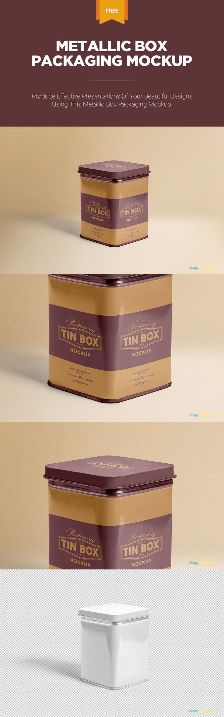 Make infinite presentations of your beautiful designs using this free mockup #free #freebie #mockup #box #packaging #psd #photoshop #tin #metal #airtight