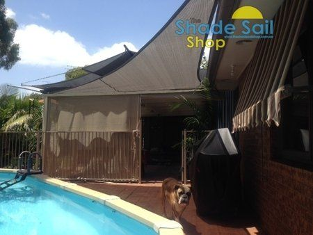 Right Angle 90 degree shade sails are a perfect fit - Size 4x5x6.4m