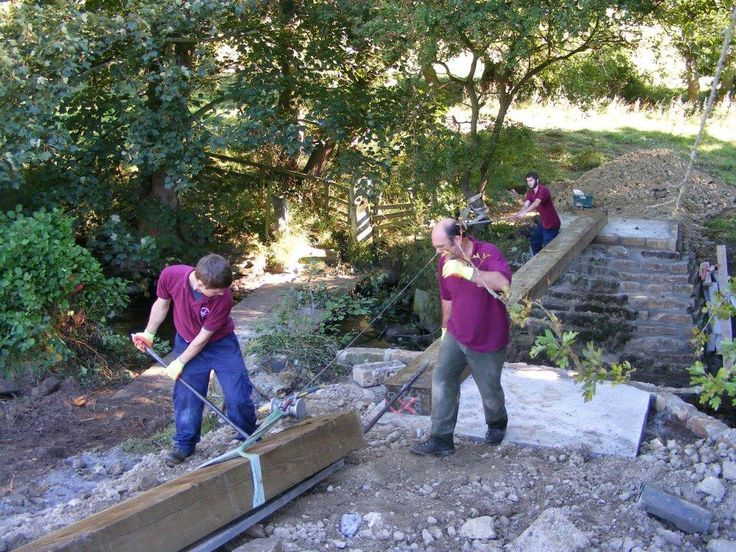 Apprentices building bridge at Bank House Farm. #Madebyapprentices