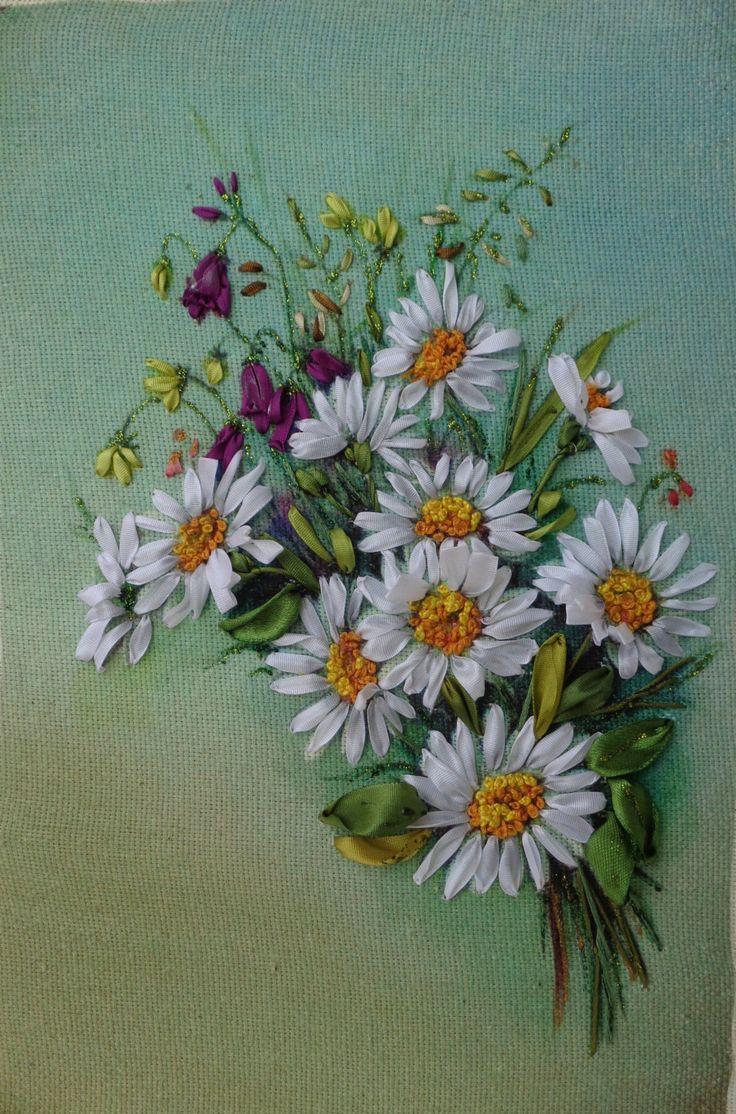 Best images about szalaghímzés ribbon embroidery on