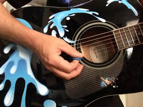 Guitar decals.Water splash stickers for by TorontoMusicGear