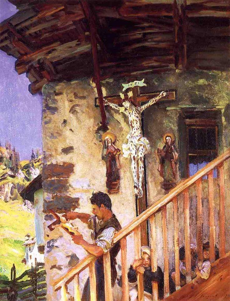 Джон Сингер Сарджент -  A Tyrolese Crucifix  (1915) - Открыть в полный размер