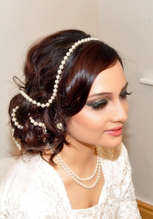 wedding hairstyle with pearl - zzkko.com