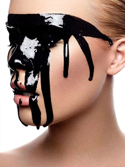 Melting Makeup Photography - These Julia Sieckmann Portraits Showcase Dripping Cosmetic Looks (GALLERY)