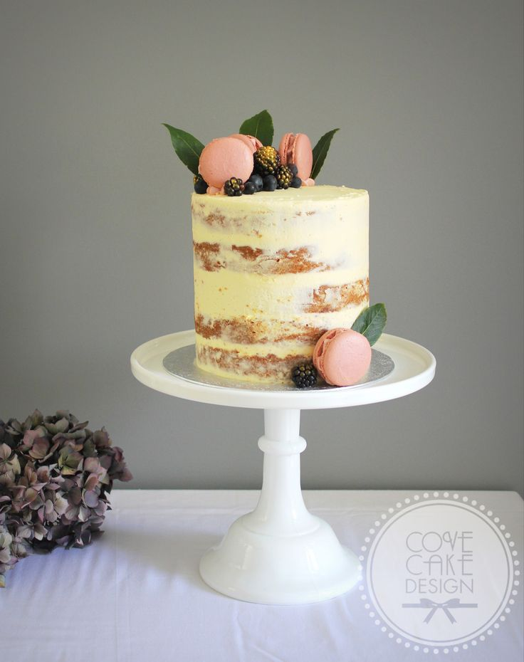 Chai Spiced Apple Brown Sugar Cake, Brown Butter Icing and Blackberry Jam - Cove Cake Design - Bespoke Wedding Cakes