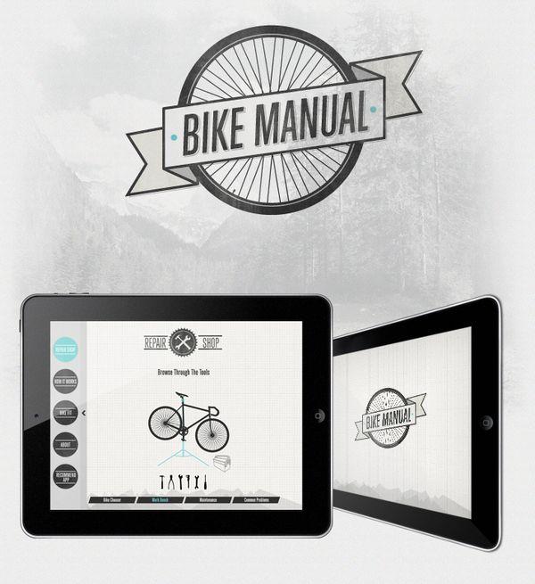 Bike Manual  App Design  Perceptive Data (app programming & development comapny) asked me to design their Bike Manual application for the Ipad.