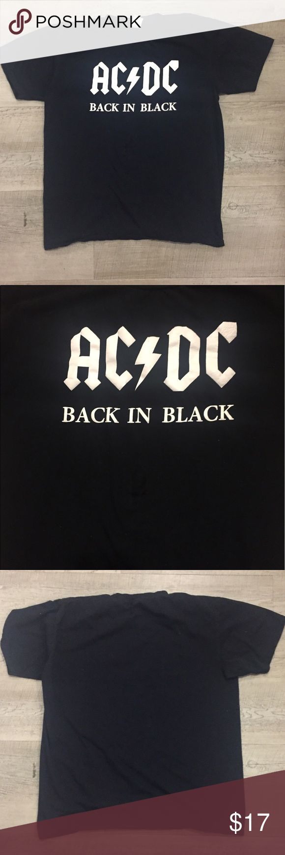 Back in black t shirt - Ac Dc Back In Black Men S Medium T Shirt